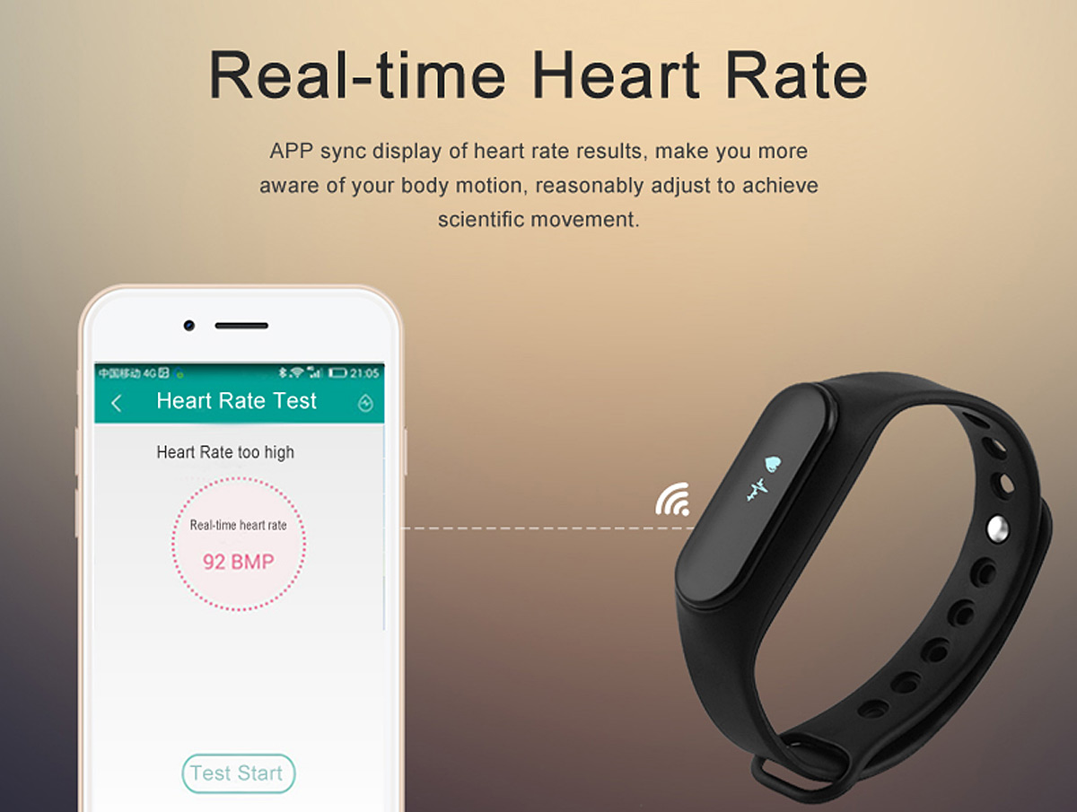 Kimlink ES Smart Watch with Heart Rate Monitor Pedometer Anti-lost Function