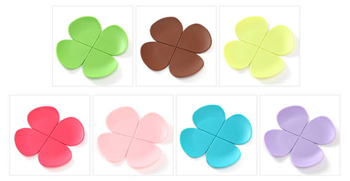 5PCS Silicone Flower Shape Heat Insulation Mat Table Surface Protector Pad