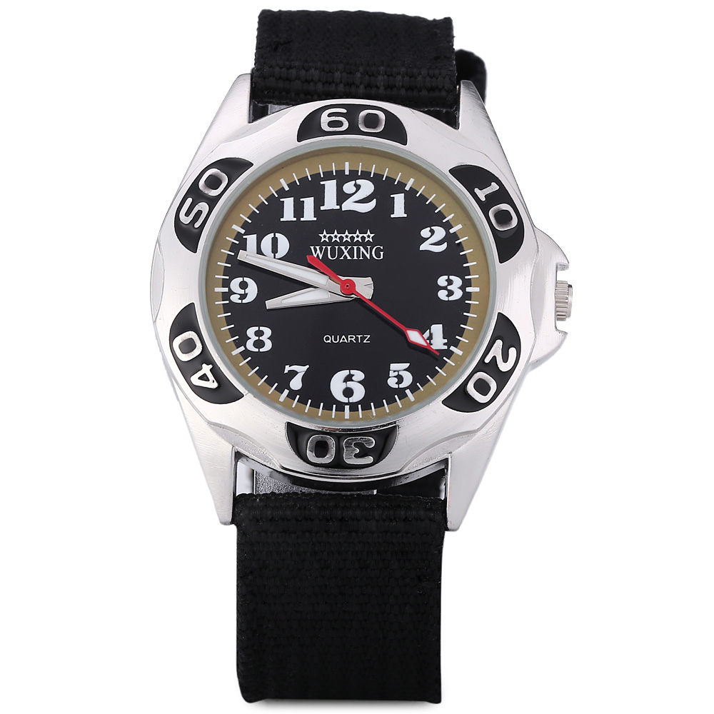 WUXING SG1272 Quartz Watch Double Scales Nylon Band for Men