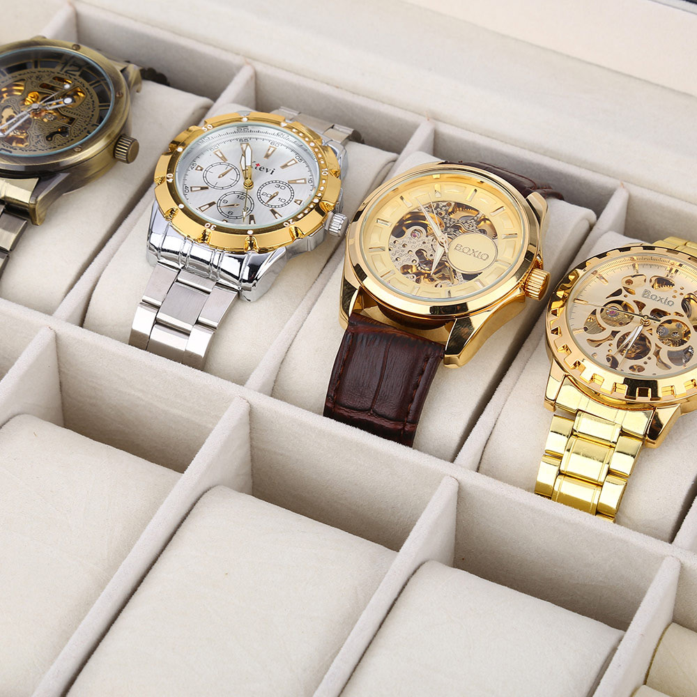 8 Grids with 4 Mixed Grids PU Leather Watch Case Box Jewelry Storage Display Box