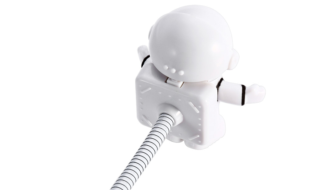 Creative Astronaut USB Light-Poseable Spaceman Light for Laptop Tablet PC Pad