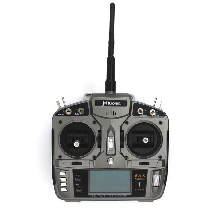 MKron T - SIX i6S 2.4G 6CH LCD Screen 2 Level Switch Transmitter Compatible with DSM2 Receiver for RC Model