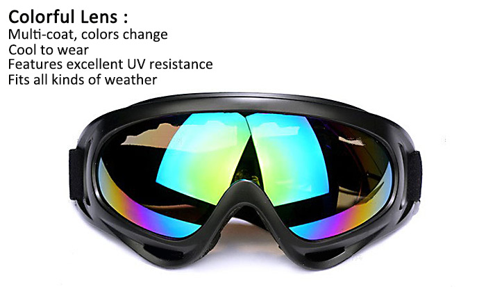 X400 Motorcycle Cycling Wind Airsoft Bike Road Racing SWAT ATV Glasses Safety Dustproof Striking Resistant PC Eyeglass Goggles