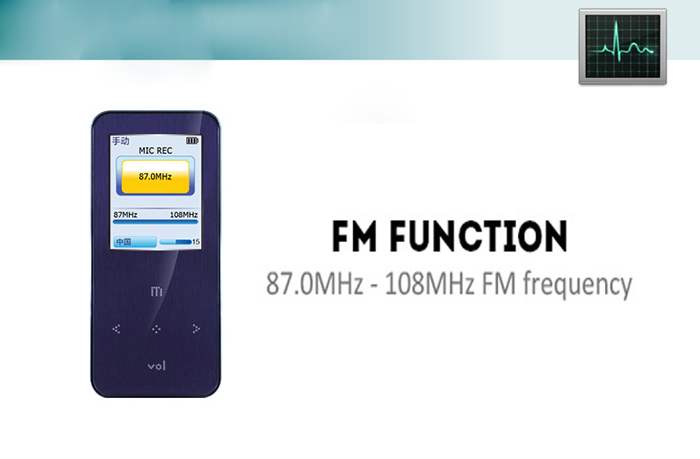 ONN Q9 Portable Pocket MP3 Player Support High Fidelity Audio Format FM Function 8G Storage 1.8 inch TFT Screen