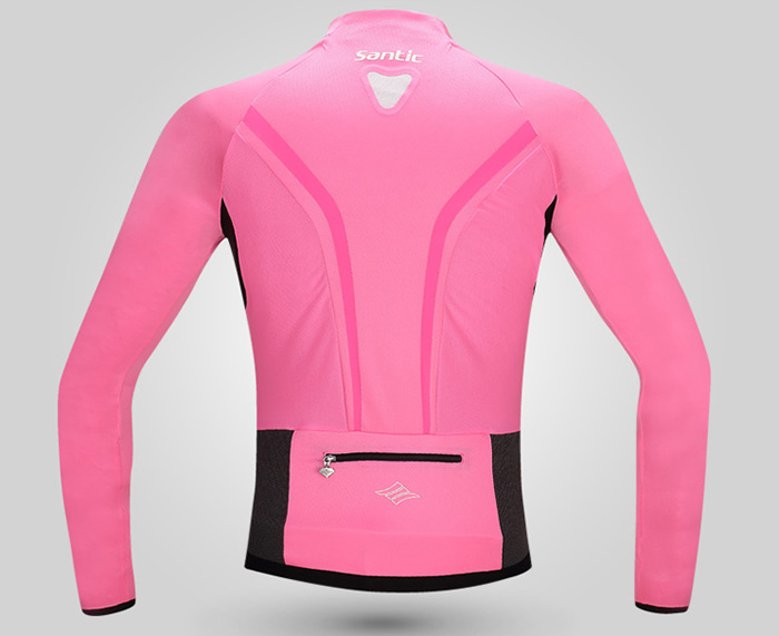 Santic Female Summer Cycling Long Sleeve T-Shirt Gauze Made Stitching Design Riding Tops