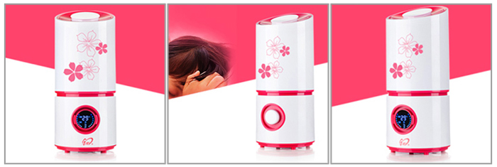 Multi-functional LCD Display Humidifier Air Purifier Automatic Alarm / Timing Aroma Oil Diffuser