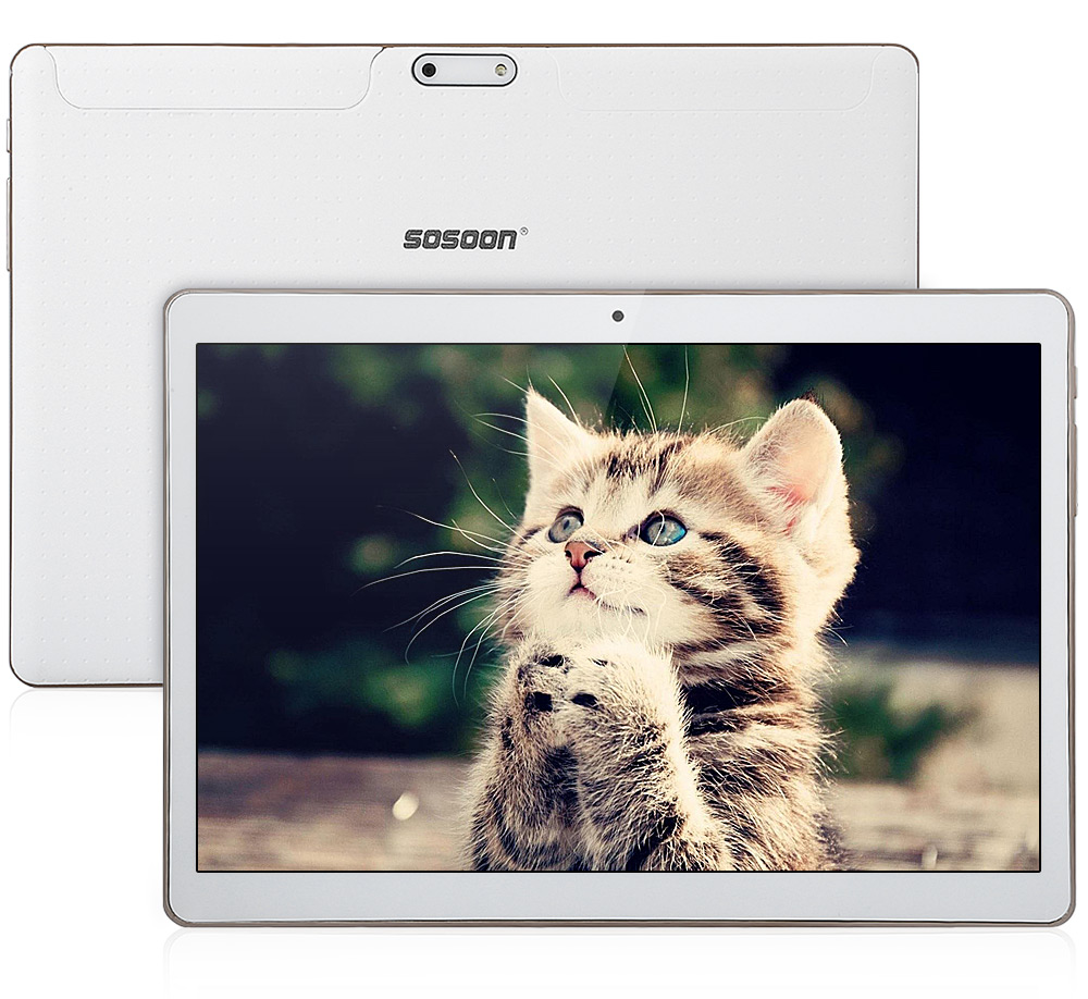 Sosoon C96 3G 9.6 inch Android 4.4 Phone Tablet PC MTK6582 Quad Core 1.3GHz IPS Screen 1GB RAM 16GB ROM Bluetooth 4.0