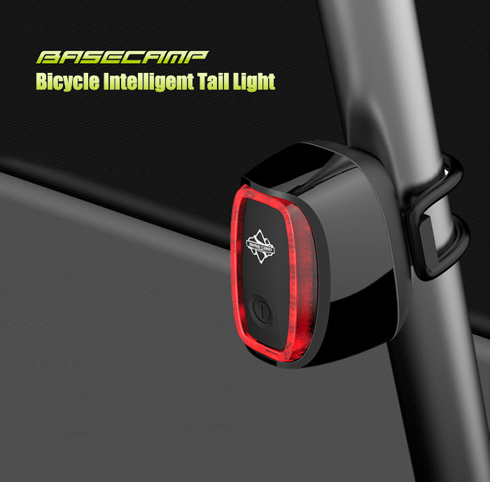 BaseCamp BC-425 7 Modes Bicycle Intelligent Tail Light IPX7 Waterproof Grade