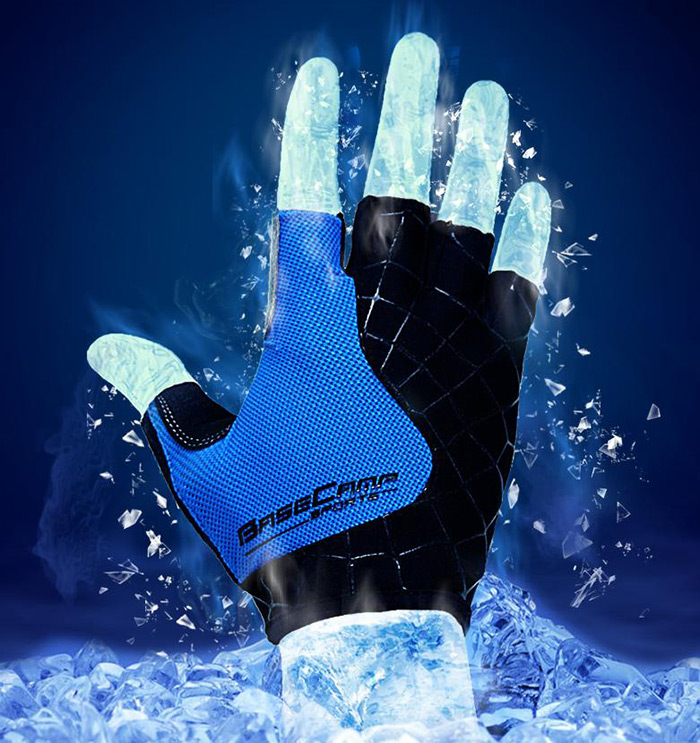 BaseCamp BC-202 Super Breathable Grid Fabric Unisex Half-finger Cycling Gloves