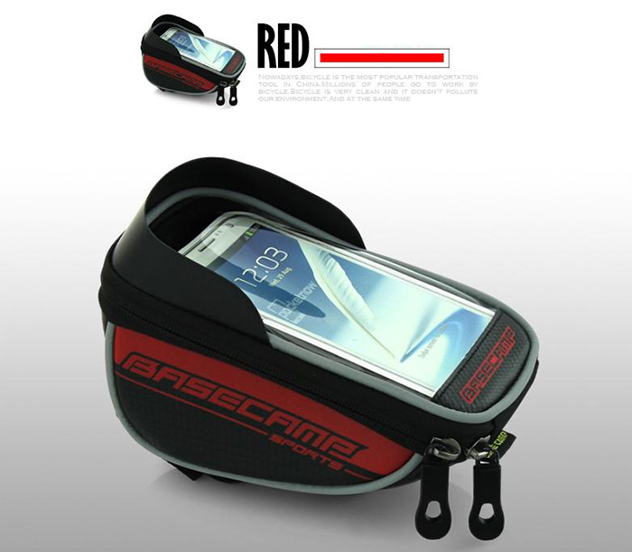 BaseCamp BC-305 Sun Visor Bicycle Screen Touch Front Tube Bag