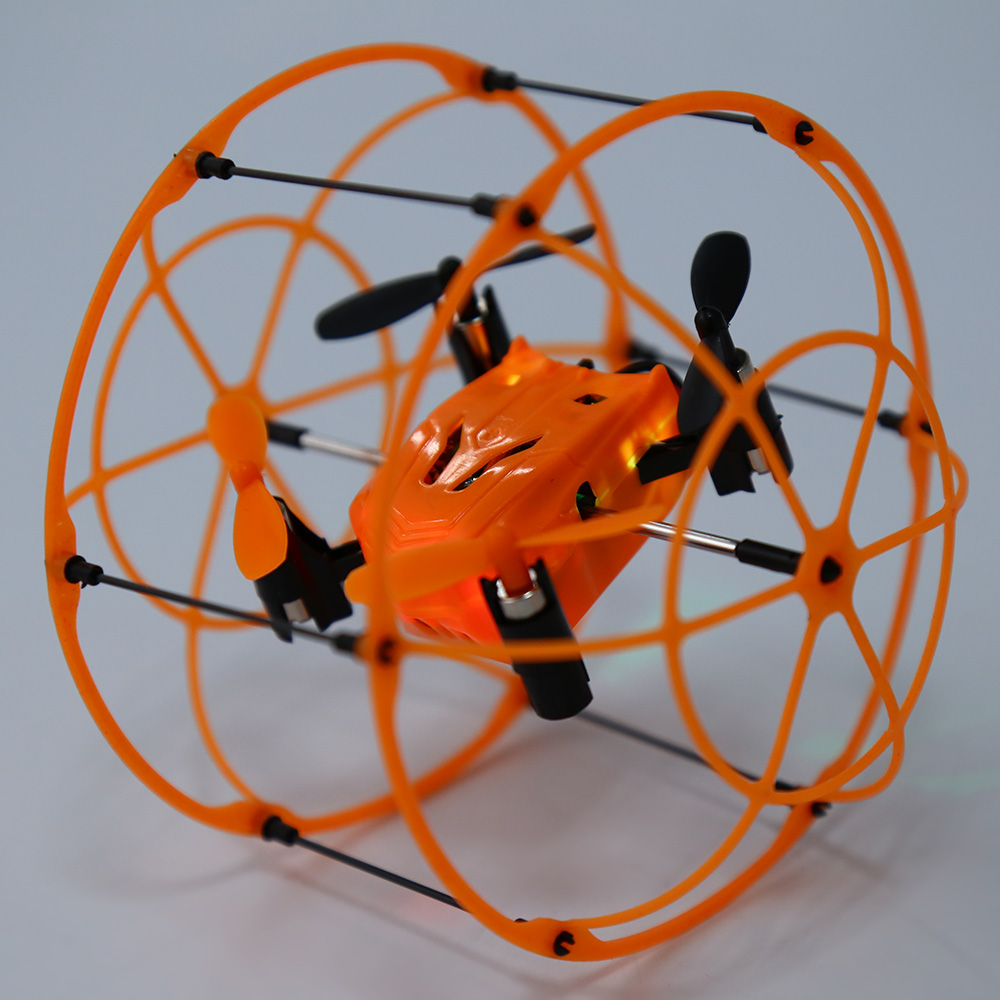 Helic Max Sky Walker 1336 2.4GHz 4CH RC Quadcopter 3D Flip Climbing Wall Roller Copter