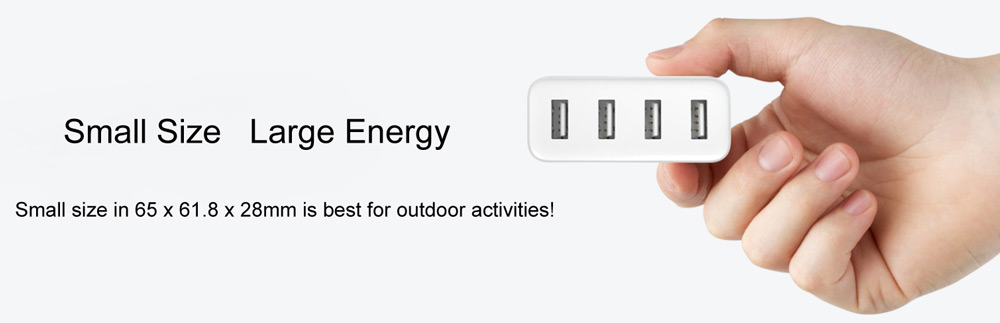 Original Xiaomi Mi 4 Ports USB Charger 2A Fast Charge with Overload Protection