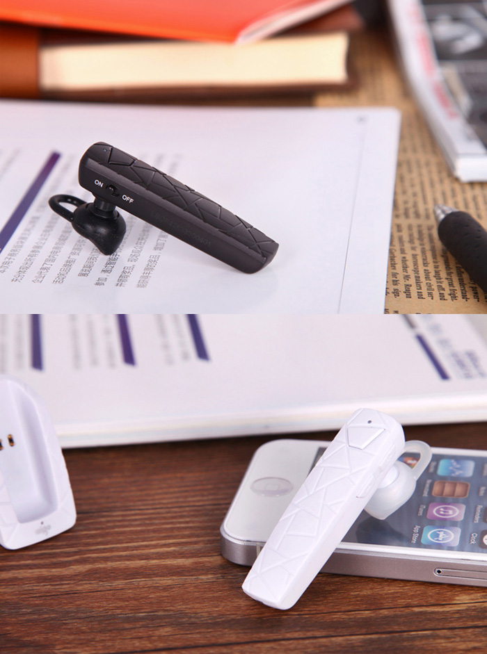 Aigo V10 Wireless Bluetooth Headset Business Style Support Hands-free Calls with Bracket