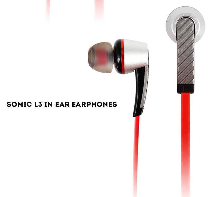 Somic L3 Fashion Portable Super Bass Music In-ear Earphones Flat Cable