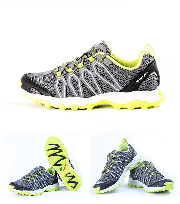 Toread Outdoor Mesh Fabric Light Breathable Trekking Trail Running Shoes for Men
