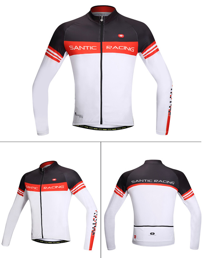 Santic M5C01063W Male Spring Cycling Long Sleeves N-FEEL Renewable Superfine Fibre Made