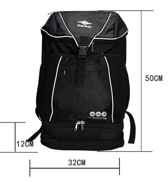 Santic S34190501H Unisex 24L Cycling Backpack Weatherproof Composited Fabric