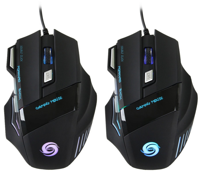 A868 7 Key USB LED Optical Wired Gaming Mouse 5500DPI