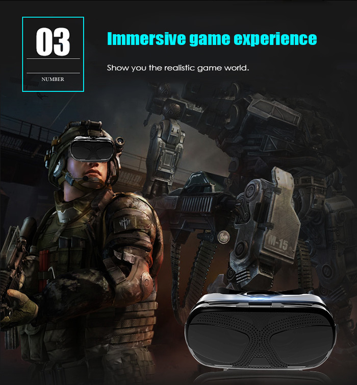 Vethien 3D VR Glasses Virtual Reality Private Theater Immersive Game Experience