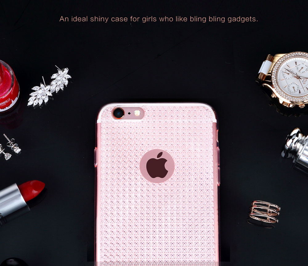 ROCK Fla Series Protective Glittering Back Case for iPhone 6 / 6S Fashion Design