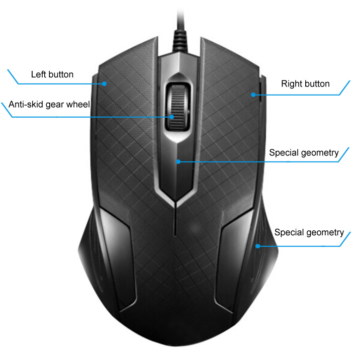 1200DPI Professional Wired Electron-optical Gaming Mouse CF Mice