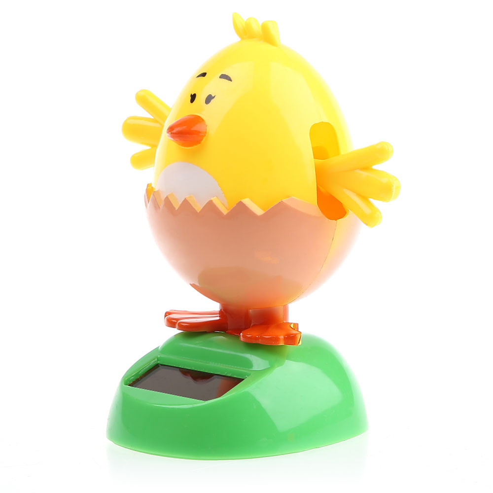 Solar Energy Shaking Chick with Eggshell House Decoration Christmas Gift