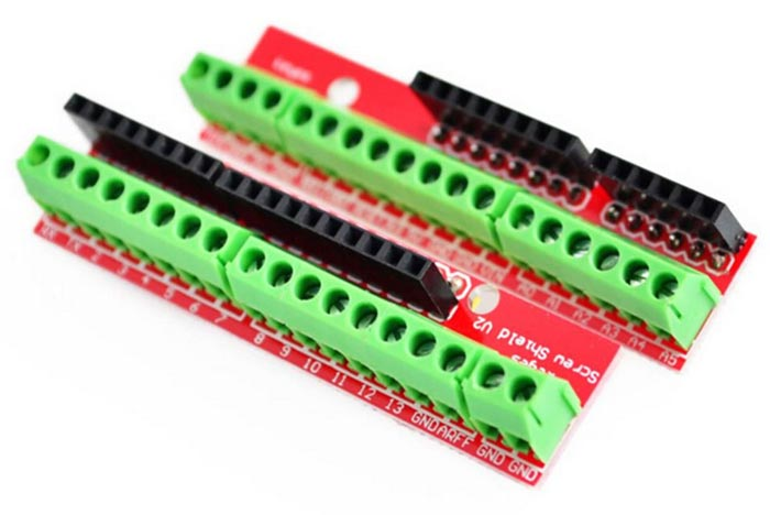 2PCS Terminal Expansion Boards for Arduino