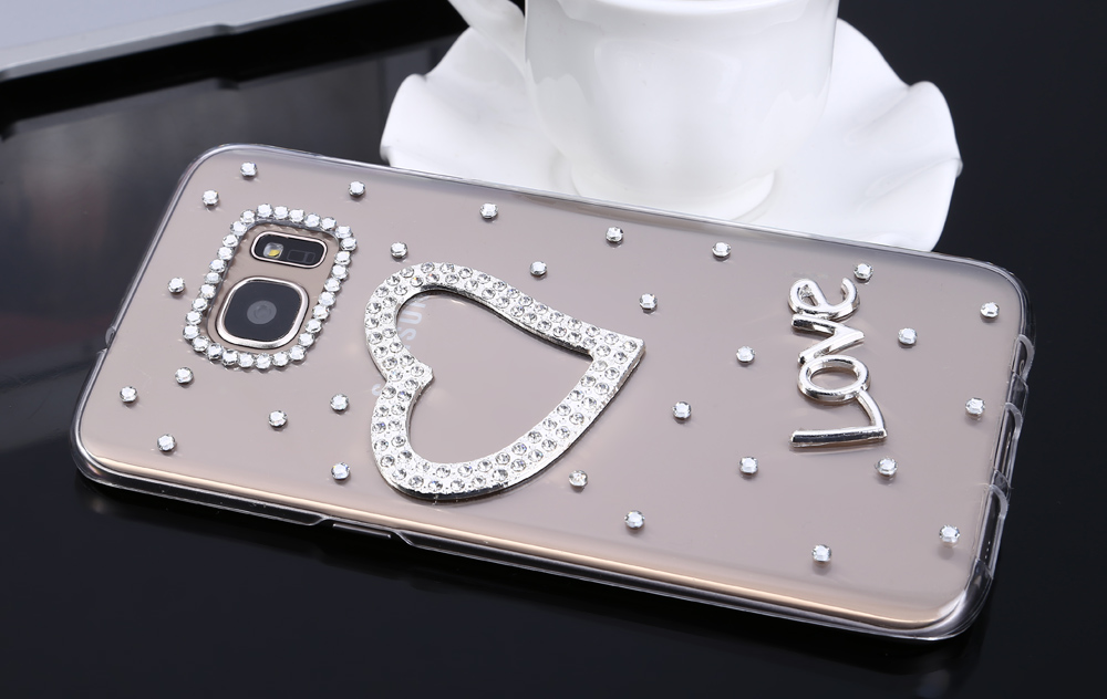 Diamond Style Phone Back Case Protector for Samsung Galaxy S7 Edge Flicker Pattern Protector