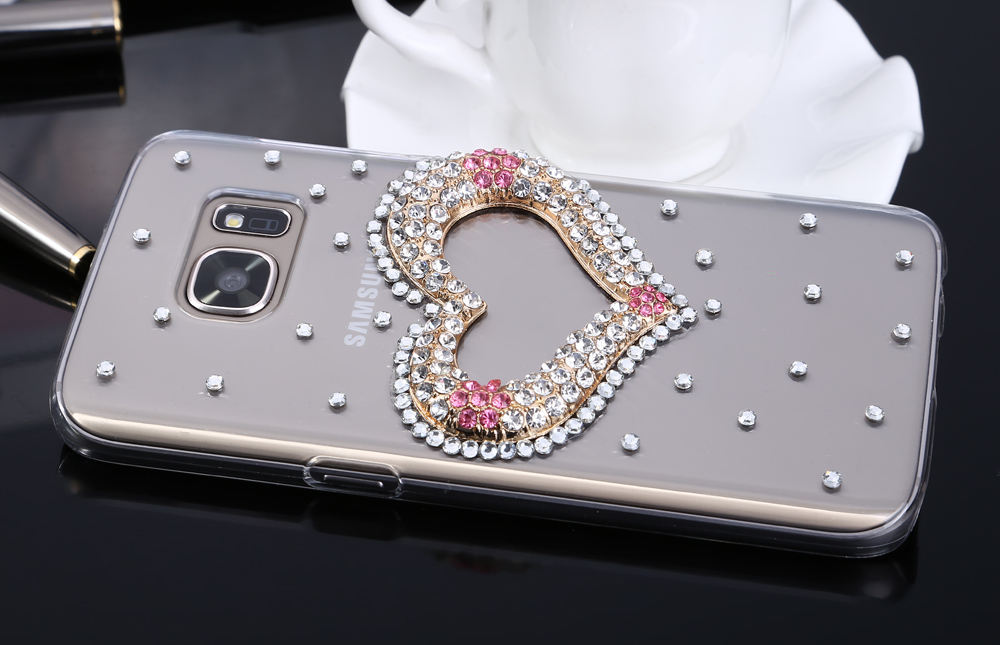 Diamond Style Phone Back Case Protector for Samsung Galaxy S7 Flicker Pattern Protector