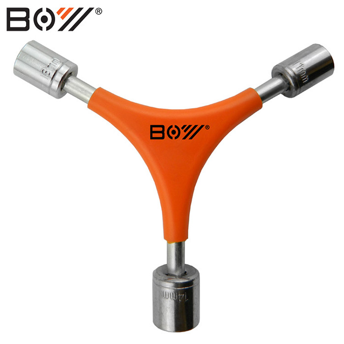 BOY 7034B Bicycle Y-shaped Socket Wrench Carbon Steel Made