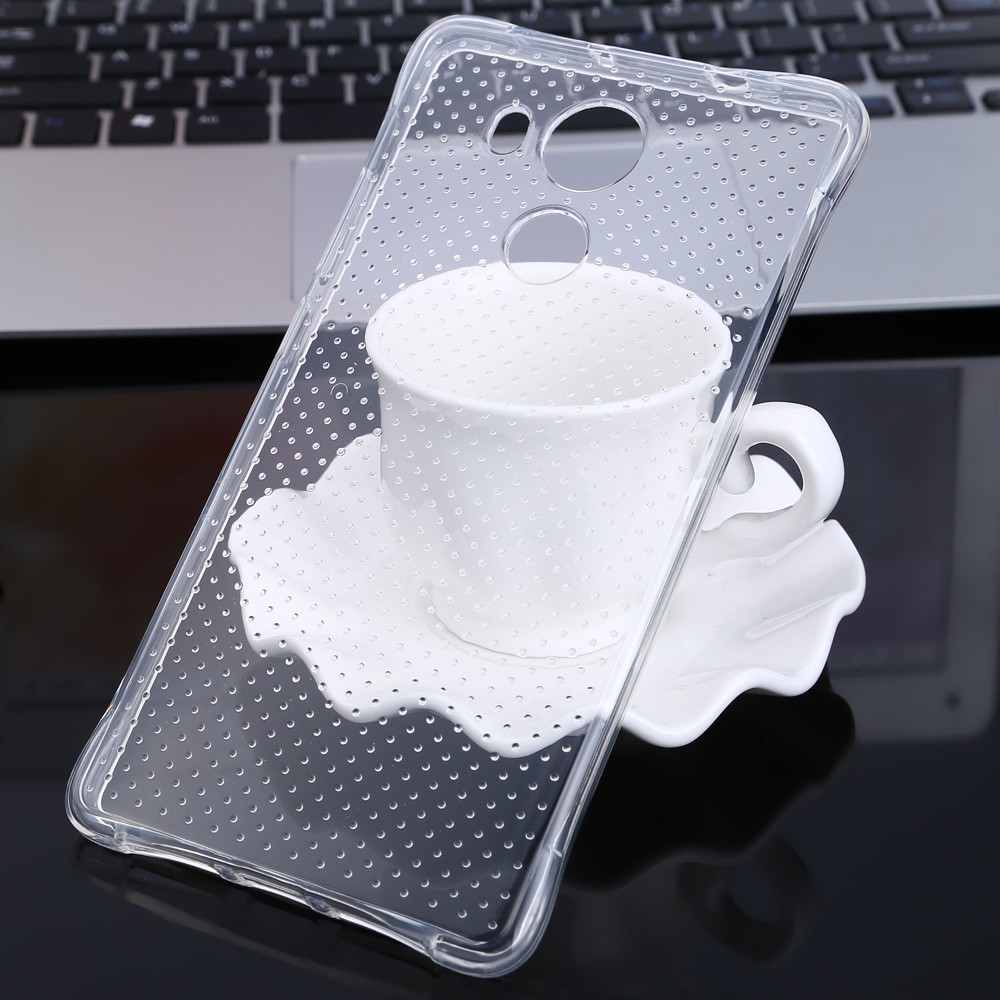 Transparent Style TPU Soft Case Protective Cover for HUAWEI Mate 8 with Salient Points Design