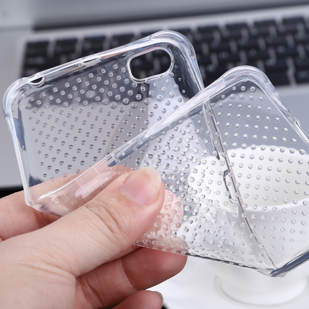 Transparent Style TPU Soft Case Protective Cover for Xiaomi 5 with Salient Points Design