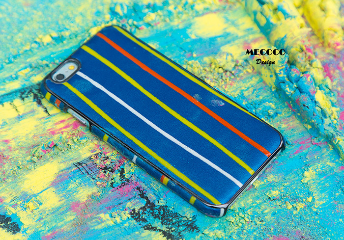 Mecoco Leather Protective Back Case for iPhone 6 / 6S Stripe Pattern Mobile Protector