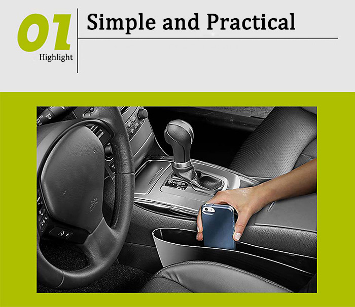 2PCS PP Washable Car Storage Holder Container Organizer for Cell Phone Business Card Pen Note Book
