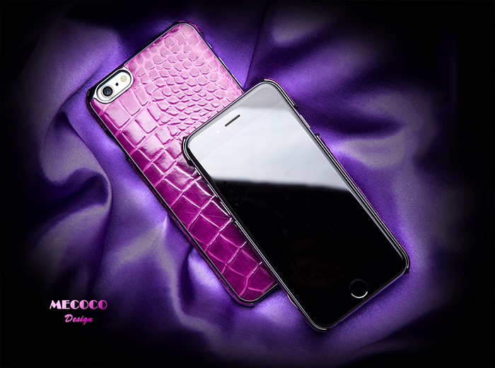 Mecoco Leather Protective Back Case for iPhone 6 / 6S Alligator Pattern Mobile Protector