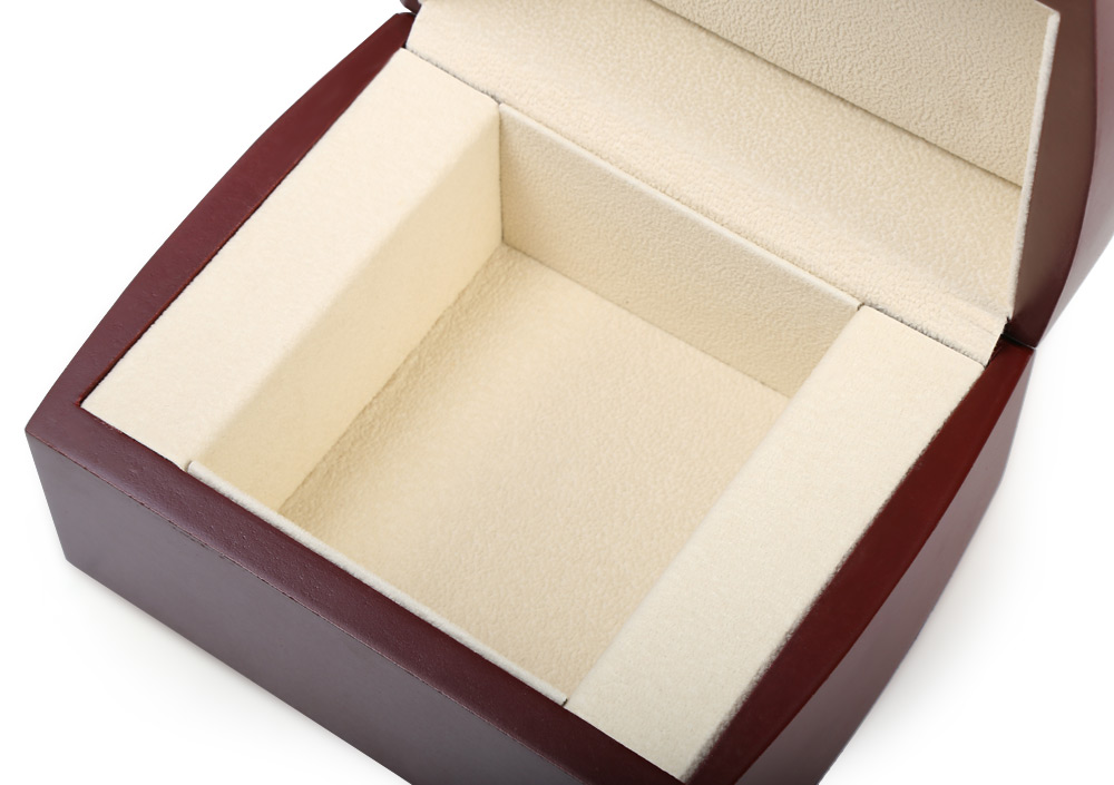 Wooden Watch Case Clamshell-style Box Organizer