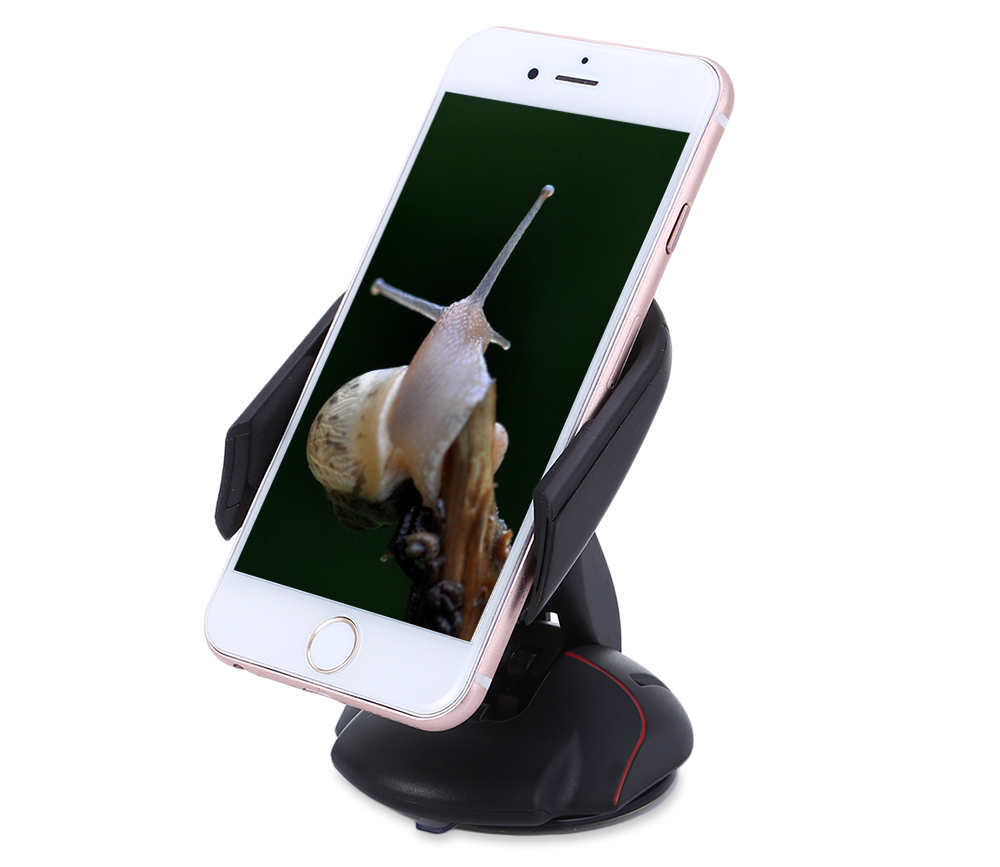 Creative Mouse Style Car Mounted Phone Stand Holder Folding Sucker Mobile Bracket with 360 Degree Rotation Adjustment