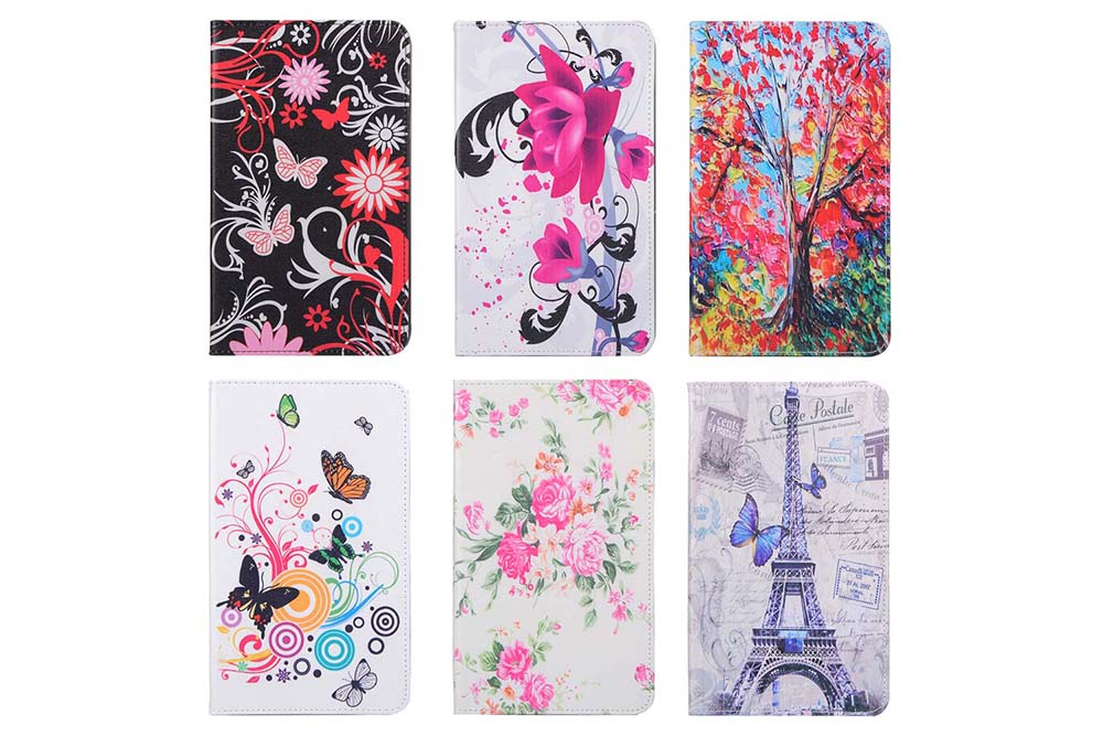 ENKAY PU Material Stand Design Durable Protective Case for Samsung Galaxy Tab E 8.0 T377 / T375