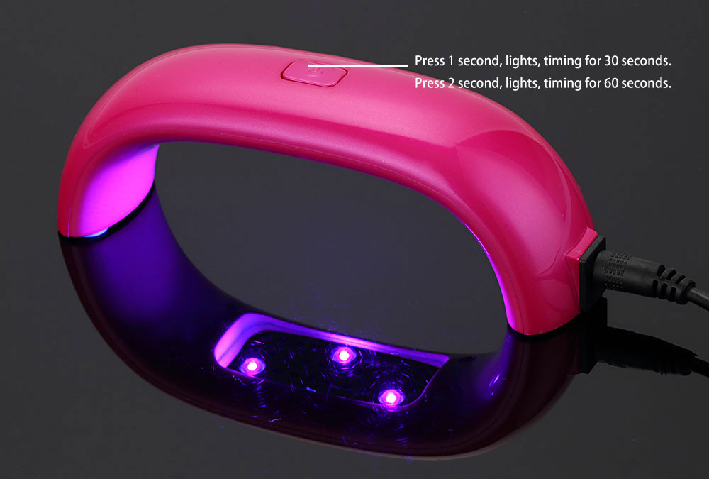 Professional 9W 100 - 240V LED Light Lamp Gel Nail Polish Nail Dryer