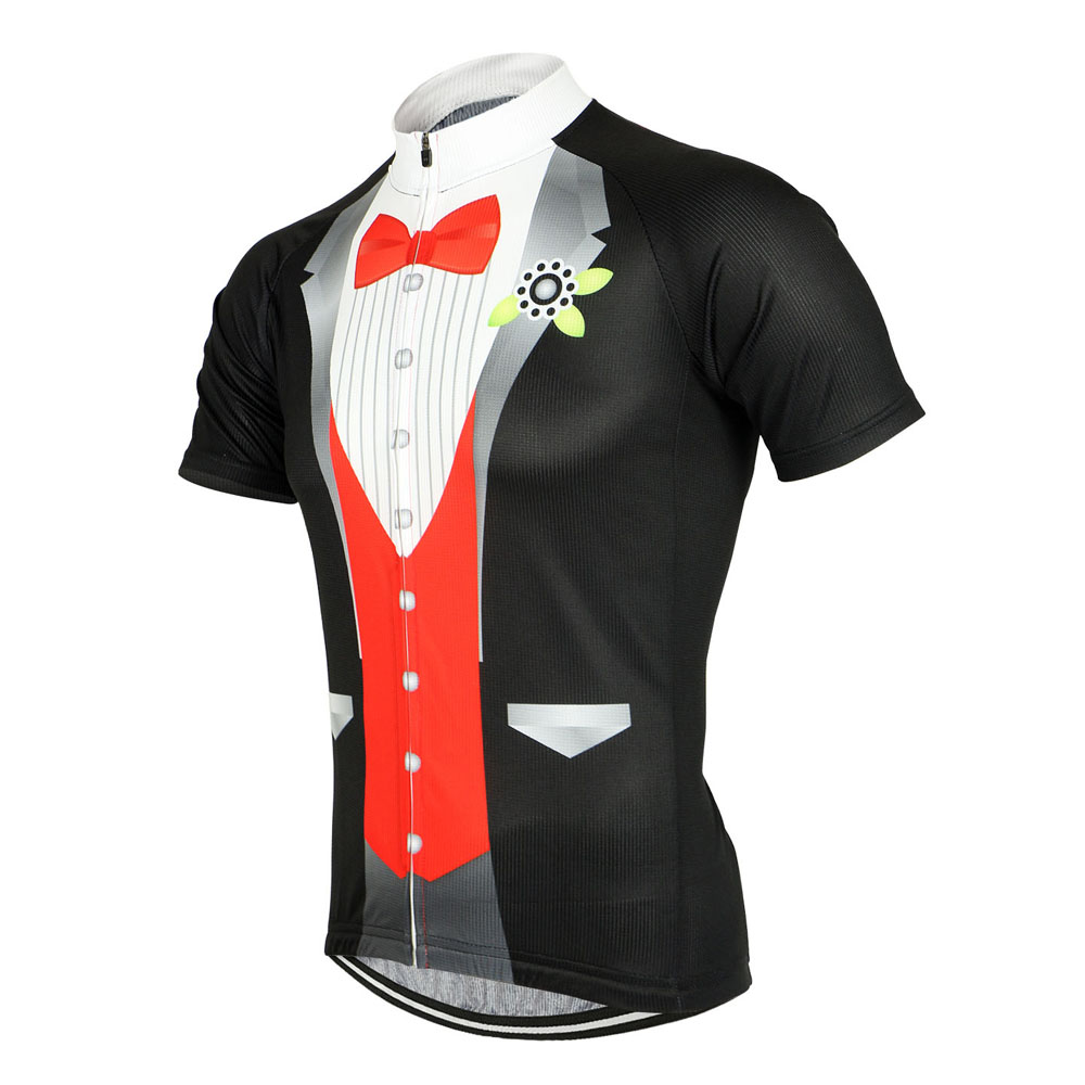 Arsuxeo ZSS511 Men Breathable T-shirt with Business Suit Pattern Cycling Clothes