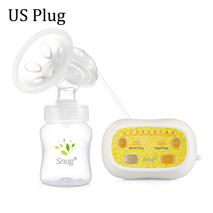SNUG S838S Electric Breast Pump Soft Chest Reliever PP Portable Pumping Milk Tool