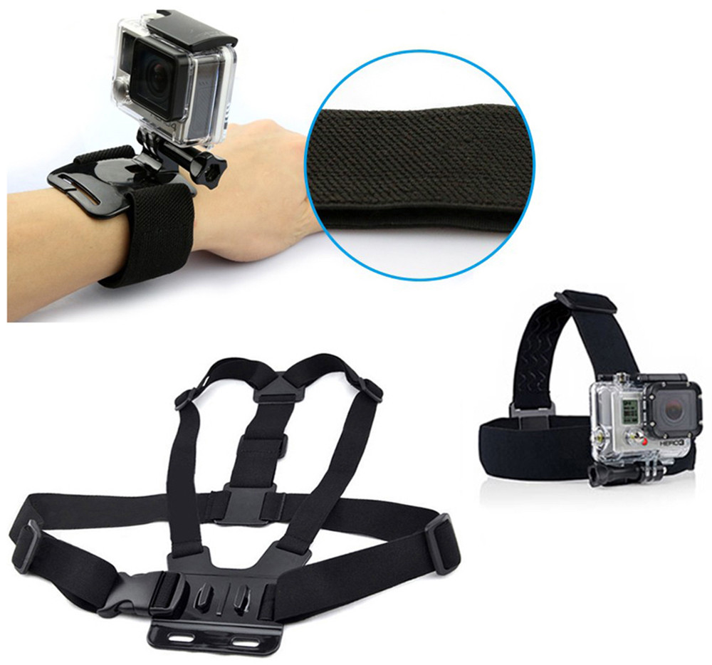 3 - in - 1 Photography Accessory Kit with Chest Strap Wrist Band Head Strap