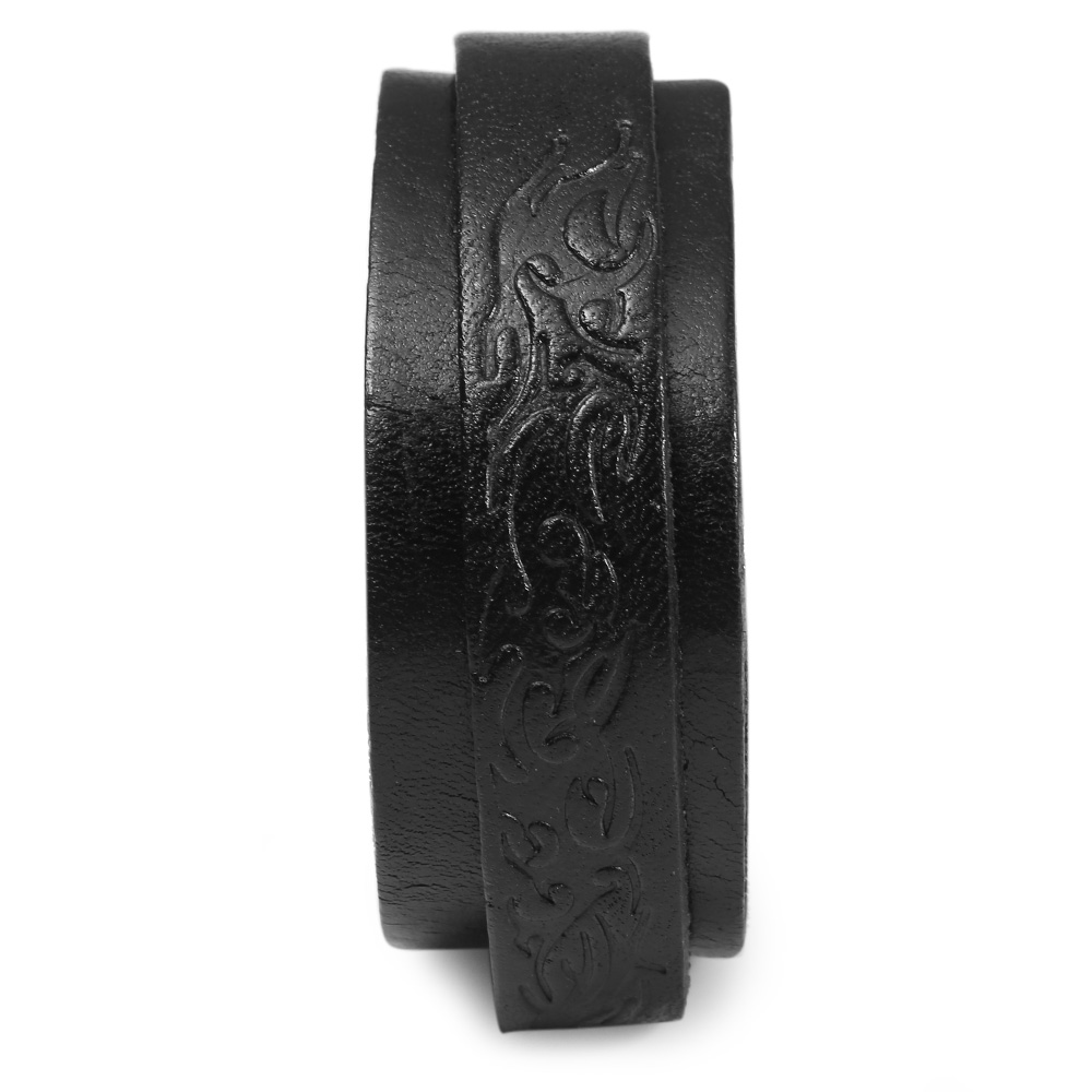 Buckle 37.5mm Long Leather Watch Wristband