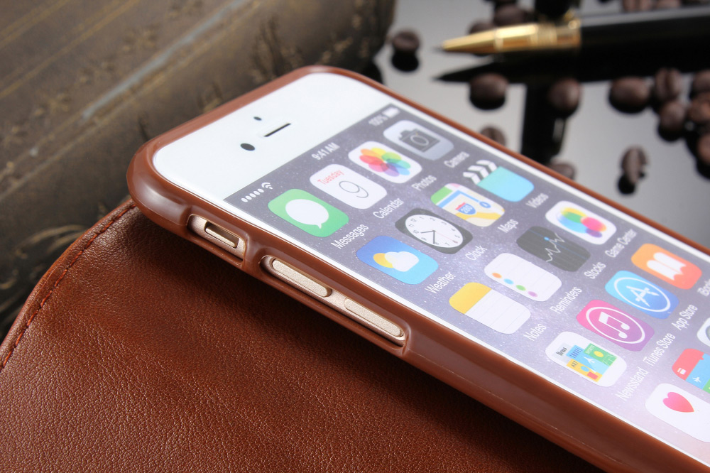 Practical PU Leather Full Body Protective Case for iPhone 6 / 6S with Card Slot Phone Stand Holder