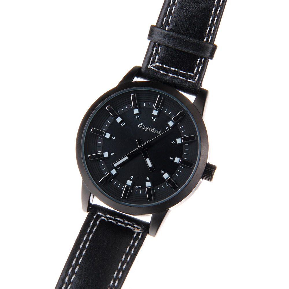 Daybird 3970 Colorful Dial Men Quartz Watch Leather Band