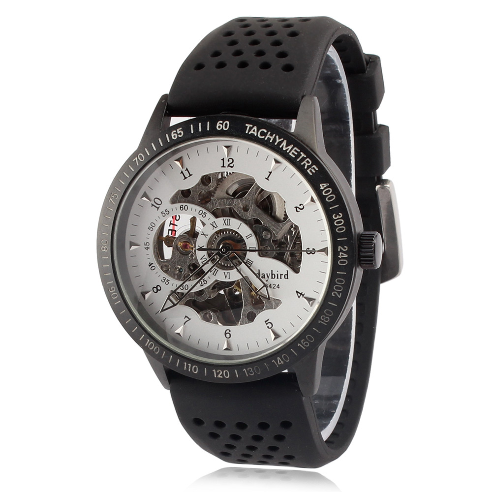 Daybird 3424 Hollow Out Dial Automatic Mechanical Watch for Men