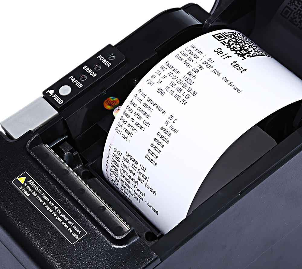 JP 80mm WiFi Thermal Receipt Printer for POS Machine
