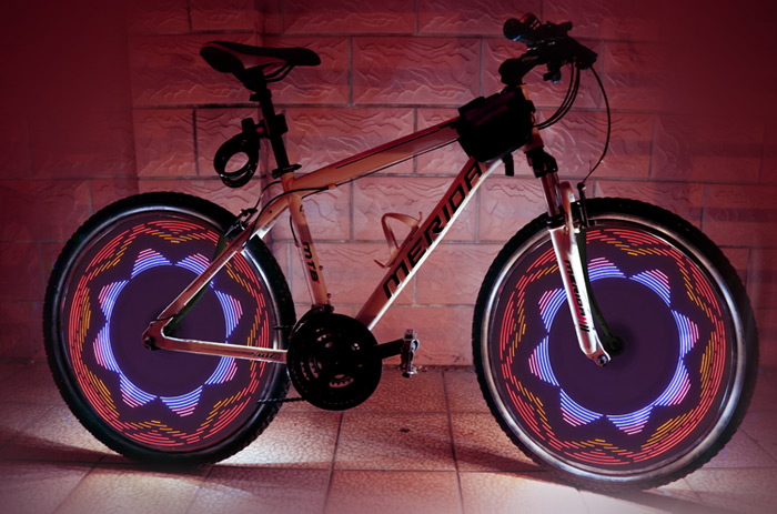 LEADBIKE A03 32 LED Bicycle Spoke Light with Double Induction