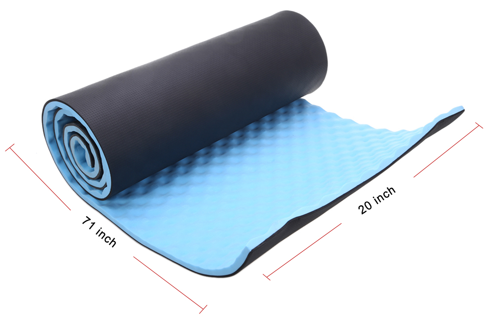 1.5CM Single Camping Yoga Mat with Carrying Straps for Outdoor Exercise