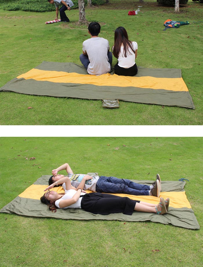 AOTU AT6737 2-Person Parachute Nylon Fabric Hammock for Outdoor Camping